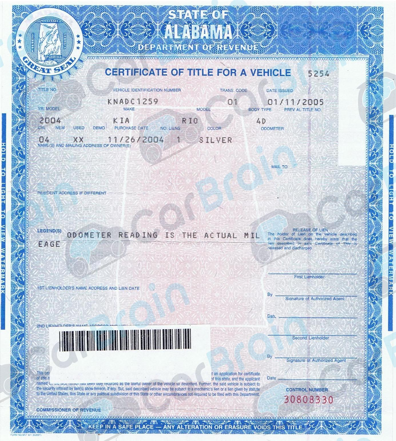 Title Transfer In Alabama Sell My Car Near Me Fast