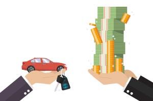 Cambiar un automóvil por efectivo